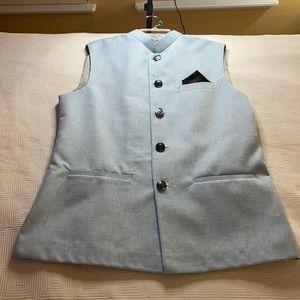 Men's Indian Nehru Modi Wedding Vest Size 38 Med